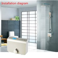 Shower faucet Digital inwall shower mixing valve faucet mixer tap with lcd screen   digital intelligent thermostatic