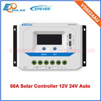 Solar power panel charger controller for 12v 24v auto type PWM 60A VS6024AU with temperature sensor