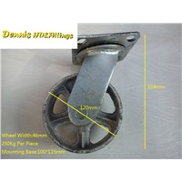 "5"" Cast Iron Caster Universal Swivel Castor"