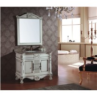 Solid Wood European Style Wooden Bathroom Cabinet  0281-B-8065