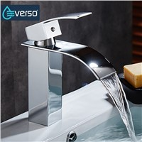 EVERSO Antique Waterfall Faucet Bathroom Faucet Basin Mixer Tap Basin Faucet Bathroom Basin Sink Faucet Torneira