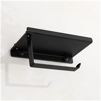American Black Paper Towel Rack, Space Aluminum Mobile Phone Stand, Bathroom Toilet Paper Holder Wall Mount