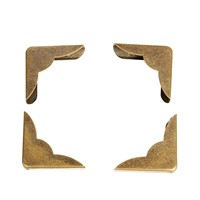 4pcs Shirt collar angle book corner 23mm  4pcs  bronze color DIY collar book anglephoto frame accessories