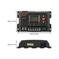 PWM Control 20A 12V/24V Solar Charger Controller Graphical Black Color LCD Display Panel Battery Regulator Hot Sale