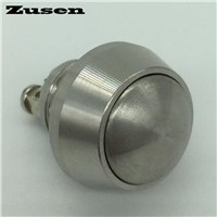 Zusen new 12mm stainless steel push button switch 1NO Dome head momentary ip65 micro switch Screw terminal(GQ12B-10/S)