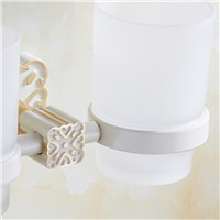 FLG Space Aluminum Tumbler Holder Cup & Tumbler Holders Tumbler Toothbrush Holder Bathroom Accessories