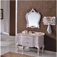 European Style Antique Design Wooden Bathroom Cabinet 0281-B-8124
