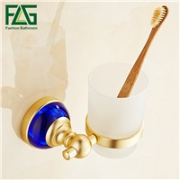 FLG Bathroom Cup Holder Space Aluminum Single bathroom cup holder Glass Cups Toothbrush Tooth Holder Bathroom Accessories