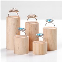 5pcs Solid Wood Ring Display Holder Ring Display Showcase Jewelry Dispaly Stand Jewellery Display Rack