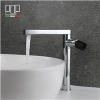 POP Brand new design Bathroom wash Basin mixer tap, matte black, rose golden chrome Brass Bathroom art basin faucet