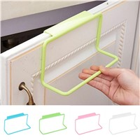 JETTING 1Pc Over Door Tea Towel Holder Rack Rail Cupboard Hanger Bar Hook Bathroom Kitchen Top Home Organization Candy Colors