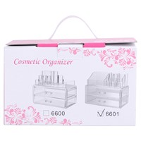 Acrylic Cosmetic Organizer Makeup Storage Box Lipstick Organizer 2 Drawer Combinable Organizer Jewelry Box Lipstick Storage Case