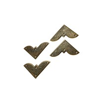 4pcs Wooden Box Iron Scrapbooking Albums Corner Bracket Antique Brass Decorative Protectors Crafts For Furniture Hardware