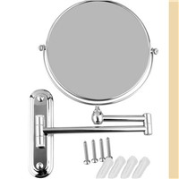 POIQIHY 8' Black antique bronze/ chrome/golden makeup mirror Wall Mounted Bathroom Mirror Double Side  Magnifying Makeup Mirror