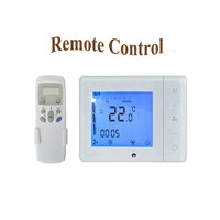 Programmable Central Air Conditioner Thermostat Fan Coil Units With Remote Control Temperature Controller AC100V-240V LCD