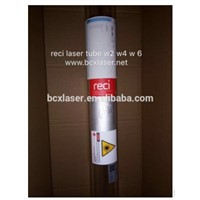 Top quality RECI W2 w4 w6 90W 100w 130w CO2 laser tube packed by wooden box warranty 10 monthes 10000hours lifetime