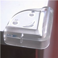 4Pcs Clear Jewelry Box Corner Foot Wooden Case Corner Protector Smiling Pattern Carved Crafts Decorative Corner Brackets