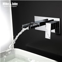 Wall Faucet waterfall wall crane single handle bathroom waterfall faucet bathroom faucet faucet water tap brass mixers LT309