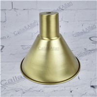 Free ship M10 D170mmX140mm brass material light cover copper cup shade quality E27 lamp shade cover lighting brass shade cone