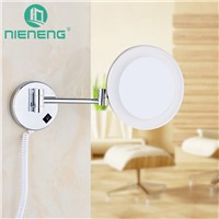 Nieneng Makeup Mirrors LED Bathroom Accessories LED Light Mirror 3X Bath Mirror Make up Toilet Magnifying Mirror ICD60524