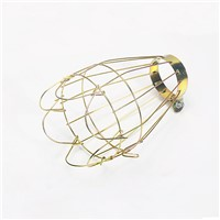 FRLED Fashion Vintage Wire Lamp Cage Lampshade Industrial Lamp Guard Cage Lamp Shade for Reptile Pet Brooder Heating Lamp Bulb