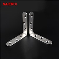 10PCS NAIERDI Angle Stainless Steel Corner Brackets Fasteners Protector Seven Size Corner Stand Supporting Furniture Hardware