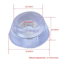 BQLZR 2.7 x 1.3cm Transparent Round Silica Gel Furniture Table Feet Legs Pads Protector with Metal Sheet Pack of 100
