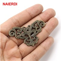 5PCS NAIERDI Antique Corner Protector Book Decorative Angle Corner Bracket For Cabinet Jewelry Wooden Box Furniture Hardware