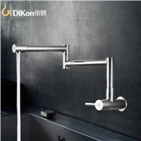 DiKon Kitchen Sink Faucet Stainless Steel 360 Degree Folding Cold Water Mixer Tap 360 Degree Basin Water Faucet LC02 Water ap