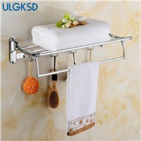 Ulgksd Luxury Bathroom Accessories Set Stainless Steel Towel Hanger Bath Towel Rack Wall Mounted Towel Holders Clothes Hooks