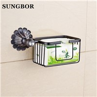 Newly Euro Style Bathroom Commodity Holder Paper Holder Oil Rubbed Bronze Cosmetic Storage Rack Bath Shelf HQ-2307K