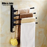Black movable bath towel rack 2-3-4 towel bars bathroom black towel shelf movable towel shelf bathroom accessory MH9000
