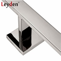 Leyden Stainless Steel Square Polished Chrome Wall Mount Double Lavatory Rolling Toilet Paper Holder Dispenser Bathroom Hardware