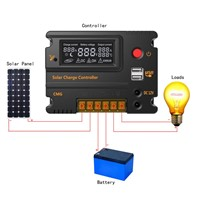 2017 New 10A 12V/24V LCD Dual-way WPC Solar Controller Photovoltaic Solar Panel Switch Solar Controller Temperature Compensation