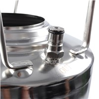 304 Stainless Steel Ball Lock Cornelius 10L Beer Keg  & Adjuatable Beer Tap Faucet & Co2 Keg Charger kit Home Brewing