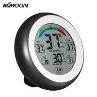 KKmoon Hygrometer Termometro Digital Thermometer Electronic Thermometer Humidity Meter wall clock