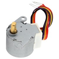 DC 12V CNC Reducing Stepping Stepper Motor 0.6A 10oz.in 24BYJ48 Silver