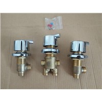 3pcs=1set bathroom shower faucet mixing valve , bathtub shower mixer sets , shower room hot and cold faucet tap