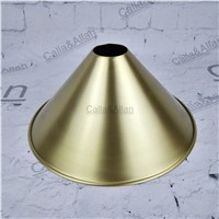 Free ship M40mm D240mmX115mm brass material light cover copper cup shade quality E27 lamp shade cover lighting brass shade cone