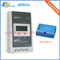 24v charger mppt solar panel charging bank controller eWIFI-BOX-01 wifi connect function Tracer4210A 40A 40amp