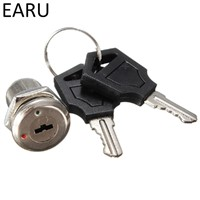12mm Zinc Alloy Electronic Key Switch ON OFF Lock Switch Phone Lock Security Power Switch Tubular Terminals+2 Keys 2 Position