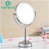 Nieneng Makeup Mirrors LED Table Stand Bath Make Up Mirror Bathroom Mirror Double Side LED Light Mirror 3X 10X Products ICD60537