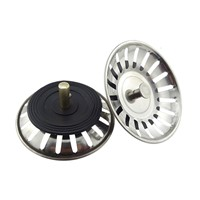 304 Stainless Steel Kitchen Sink Stopper Drain Drainer Basin Plug Stop Water Rubber Sink Filter Cover Sinkhole Drain Catcher
