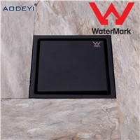 New Stainless Steel Shower Drain Black Bathroom Floor Drain Tile Insert Square Anti-odor Floor Waste Grates 150X150 Black