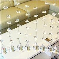 50PCS 14mm Crystal Glass Prisms Octagonal Beads Pendant Decoration Lamp Glass Chandelier Parts