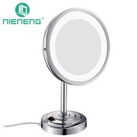 Nieneng Led Mirror Makeup Mirrors Bathroom LED Light Mirror 5X Cosmetic Bath Mirror Make up Toilet Magnifying Fixtures ICD60538