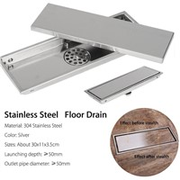 Stainless Steel Invisible Tile Floor Drain Waste kitchen Shower Drainer Bathroom Floor Drain for Bathroom Accessories