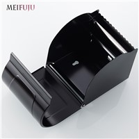 MEIFUJU Space Aluminum Black Paper Tissue Box Bathroom Tissue Boxes Paper Roll Holder Wall Paper Shelf Bathroom Paper Rack Box