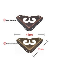 Bulk Bronze Side Corners,Furniture Corner Triangle Fillet Decorative Sheet Metal Purses Gusset,Flower Protector,31mm,200Pcs