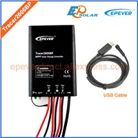MPPT New series solar charger controller Tracer2606BP 10A 12v 24v auto work EPEVER apply for lithium battery and battery
